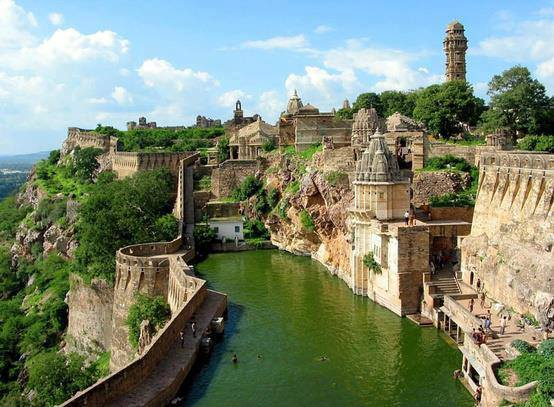 Chittorgarh, the largest fort in India.